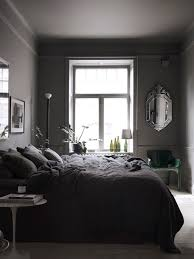 Black And White And Grey Bedroom Dark Grey Bedroom In The Home Of Lotta Agaton Bedroom Blog