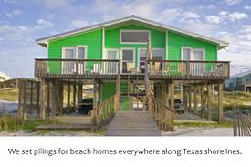 Homes On Pilings Pile Setting U0026 Pile Driving Services Tx Horizon Marine Construction