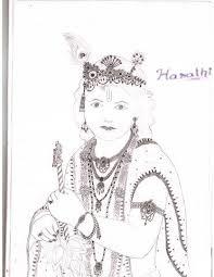 lord krishna pencil sketch desipainters com