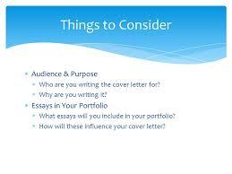 preparing your portfolio cover letter part of the gavilan writing