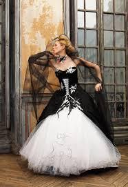 robe de mari e noir et blanc robe de mariée blanche et noir
