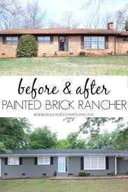ranch house best 25 painted brick ranch ideas on pinterest painted brick
