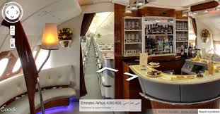Emirates Airbus A380 Interior Business Class Emirates Creates A380 Street View Business Insider