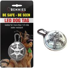 collar light for small dogs led dog tag light bennies world led clip on dog collar lights no 1