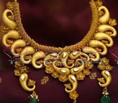 real gold necklace designs images Nl1026 antique one gram burnt gold mango jadau kundan design online jpg