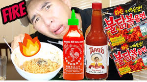 Challenge With Sauce Spicy Noodle Challenge Sriracha Sauce Tapatio