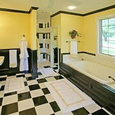 Grey And Yellow Bathroom Ideas Yellow And Black Bathroom Bathroom Yellow Yellow Black White