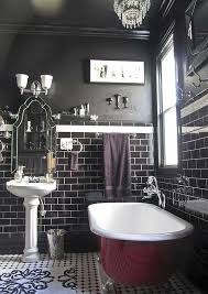 black bathroom ideas best 25 black tile bathrooms ideas on white tile
