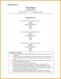 how to format resume references format resume page how to a for an internship list of
