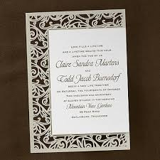 fancy invitations product of the week fancy detail ecru invitation crafted for