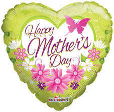 Lime Green Flowers - lime green heart u0026 flowers happy mother u0027s day balloon bouquet