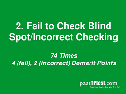 Driving Blind Spot Check Top 25 Mistakes Made During The Singapore Driving Test