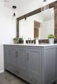 Brushed Nickel Bathroom Mirror by Bathroom Design Marvelous Wood Framed Bathroom Mirrors Large