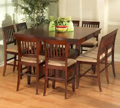 maple counter height dining table set 9pc maple finish wood