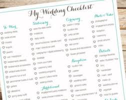 wedding checklist printable to do list etsy