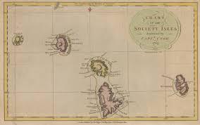 Map Of Tahiti James Cook First Voyage