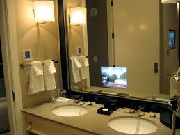 Mirror Tvs For Bathroom Skylofts At Mgm Grand The Bathroom