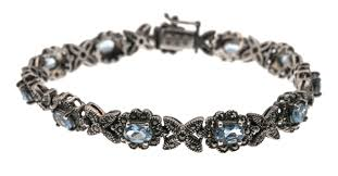 silver topaz bracelet images Pools of water vintage sterling silver blue topaz marcasite jpg