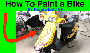 how to paint a scooter moped bike update 98 honda elite sr youtube