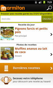 application recettes de cuisine smartphone android edition marmiton recette de cuisine