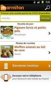 application cuisine android smartphone android edition marmiton recette de cuisine