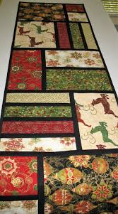 christmas table runner reindeer christmas ornaments quilted