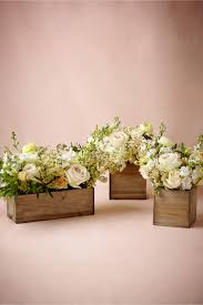 Small Centerpieces Wooden Box Planters Natural In Décor U0026 Gifts Bhldn