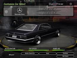 mercedes sec 560 amg need for speed 2 mercedes 560 sec amg nfscars