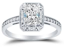 cubic zirconia halo engagement rings solid 14k white gold highest quality cz cubic zirconia