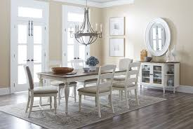 castle dining room castle hill brown and cream extendable dining room set from jofran