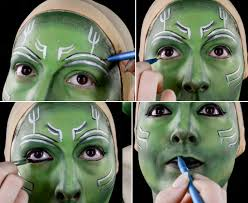 Guardians Galaxy Halloween Costumes Guardians Galaxy Gamora Makeup Tutorial Wholesale