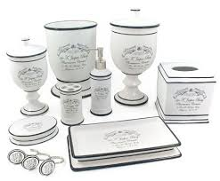 Bathroom Countertop Accessories by French Bath Accessories And White French Apothecary Bath French