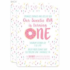 pink birthday invitations donut first birthday invitations pink printed u2013 pipsy