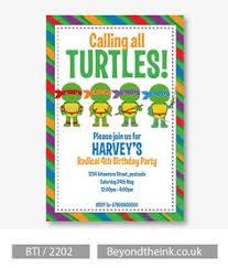 teenage mutant ninja turtles tmnt diy party invitation first