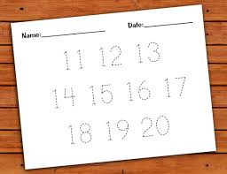 11 20 number trace worksheet pdf printable by pdotprintables