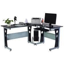bureau ordinateur d angle bureau d angle en verre noir achat vente bureau d angle en