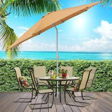 Gp Products Patio Furniture Amazon Com Best Choice Products Patio Umbrella 9 U0027 Aluminum Patio