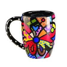 romero britto mugs