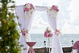 wedding arch garland wedding arch of different flowers stock image image of garland