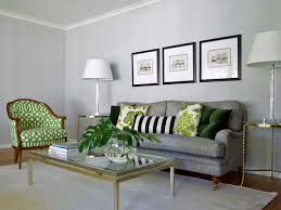 gray and green living room home design