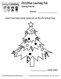 free printable counting candy canes worksheet for kindergarten
