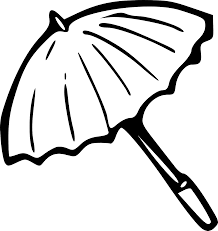 umbrella black and white photos of umbrella clip art coloring page