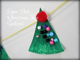 pickup some creativity paper plate christmas tree garland