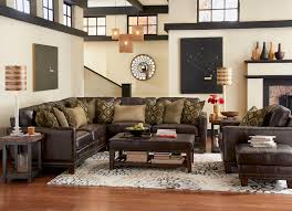Leather Sofa With Studs by Flexsteel Latitudes Port Royal Transitional Four Piece Sectional