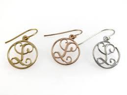 Gold Monogram Earrings 1 Initial Monogram Earrings Gold Monogram Earrings 0 6