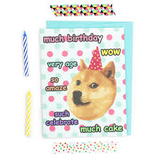 doge meme birthday card