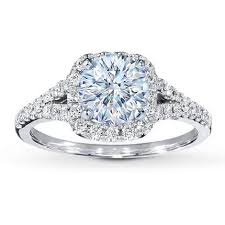 Jared Cushion Cut Engagement Rings Diamond Ring Setting 1 3 Ct Tw Round Cut Platinum Jared The