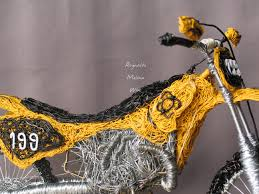 travis pastrana freestyle motocross wire sculpture of travis pastrana dirt bike inspired by sports