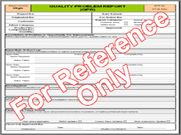 non conformance report form template quality incident investigation template
