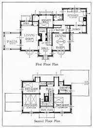 Antique New England Colonial House Plans Victorian Home Style